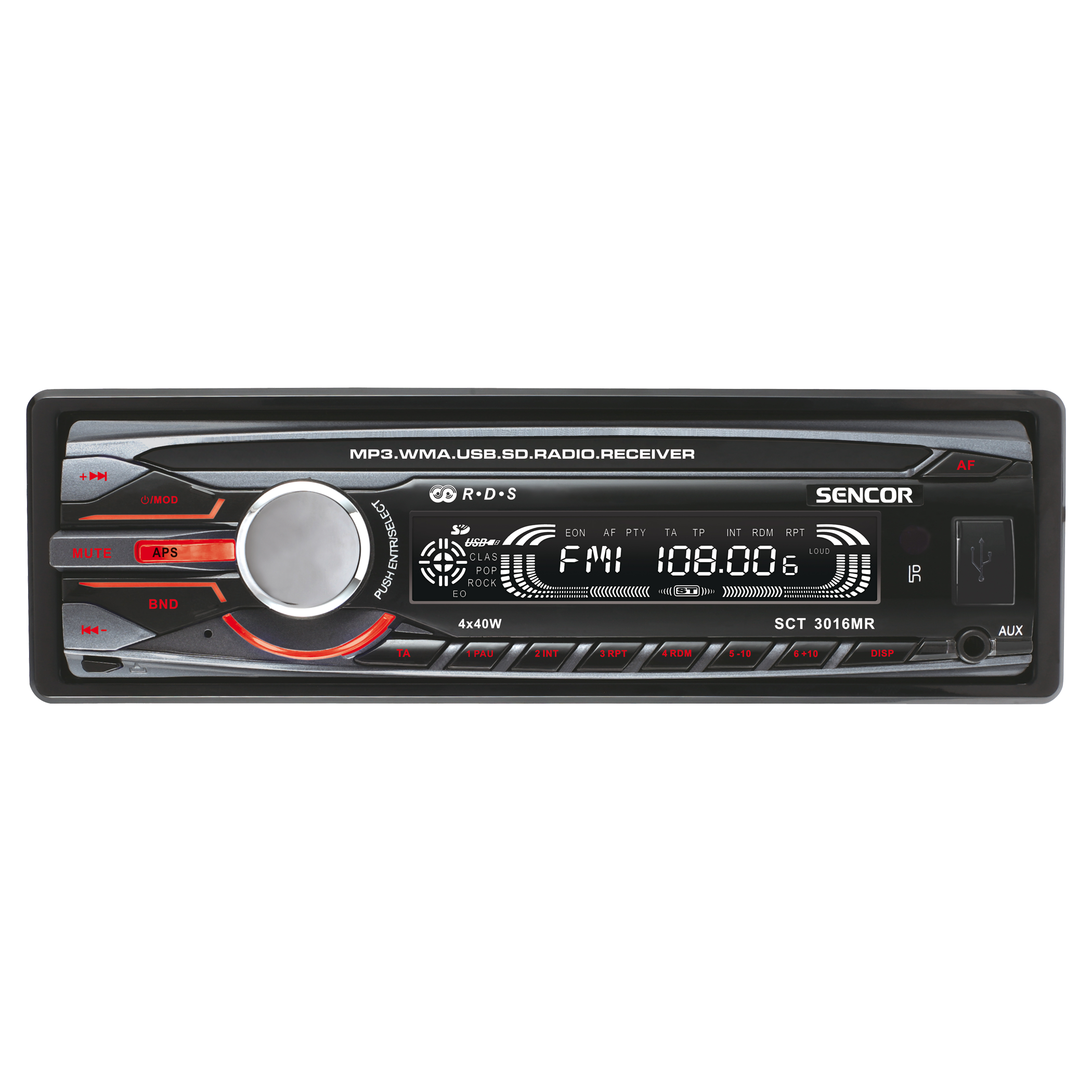 SCT 3016MR Car Radio with USB/SD/MMC
