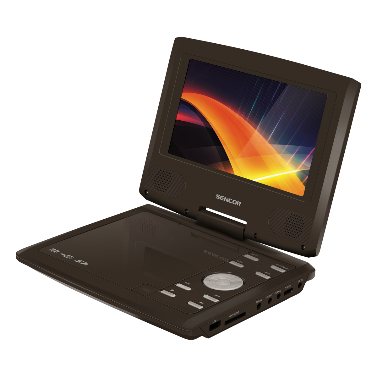 SPV 2720 BROWN Portable DVD player